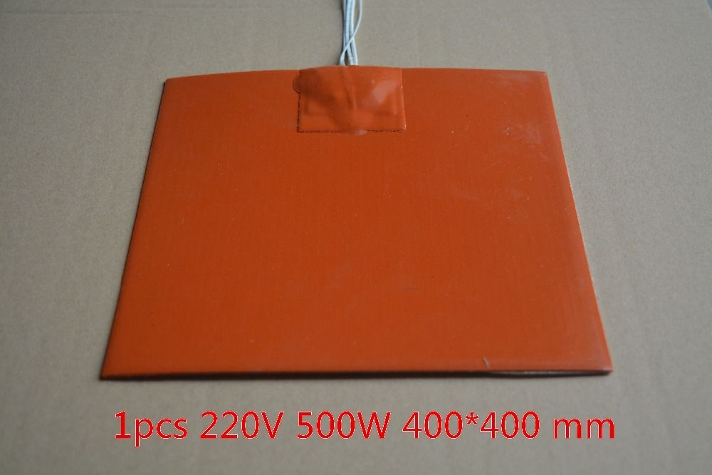 Silicone heating pad heater 220V 500W 400mmx400mm for 3d printer heat bed 1pcs