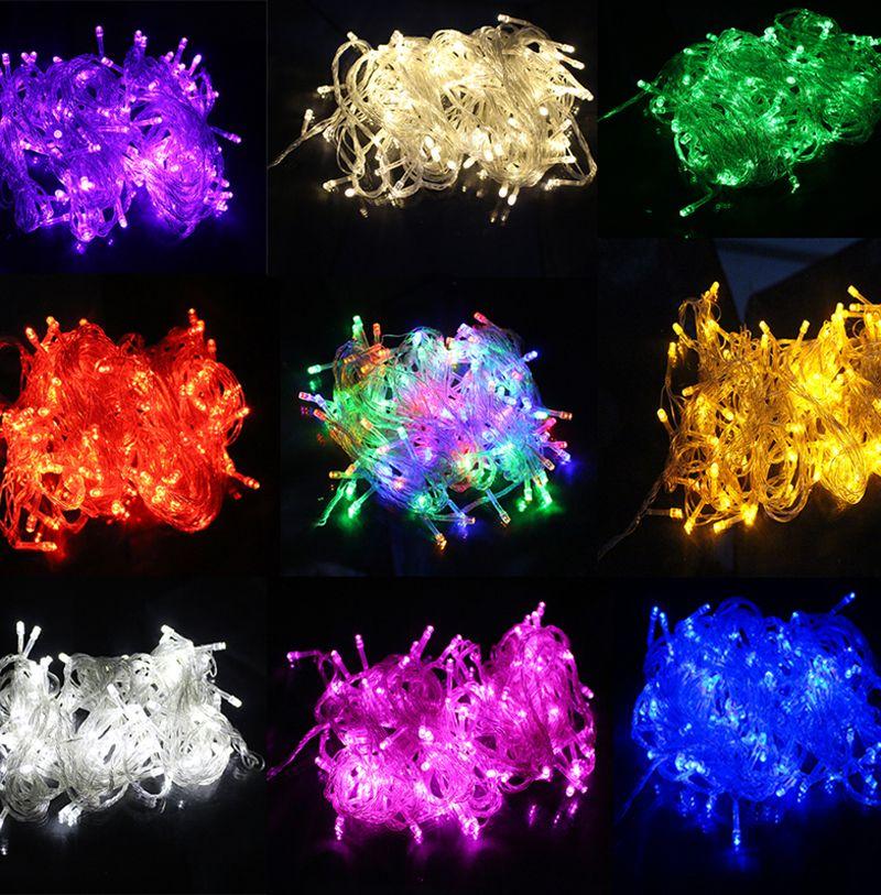 10 M Étanche 220 V 100 LED de vacances Jeu de lumières pour le Festival Fête de Noël Fée Coloré De Noël LED Chaîne Lumières