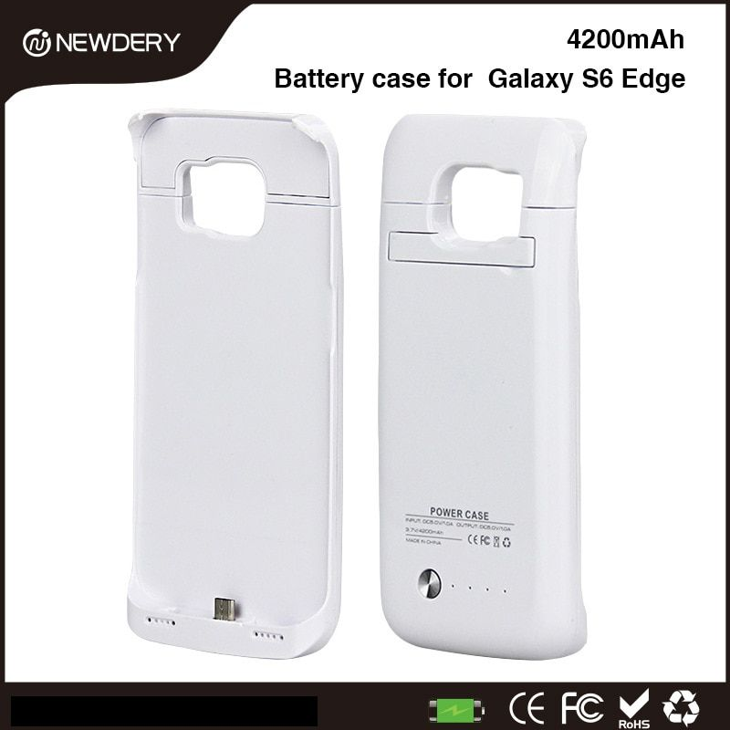 NEWDERY 1L For Samsung S6 edge Power Case 4200mAh External Battery Charger Battery Case <font><b>Galaxy</b></font> S 6 EDGE Backup Charger