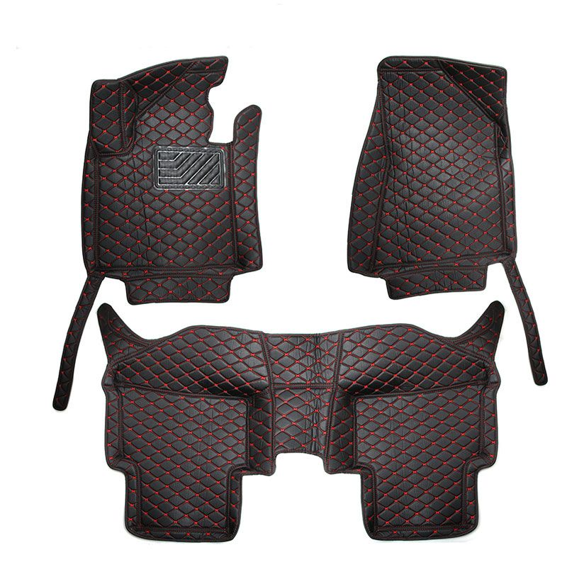 For LHD KIA Sportage QL 4th 2017 2016 Car Floor Mats Leather Cover Car-styling Interior Custom Leather Rug Auto Accessories