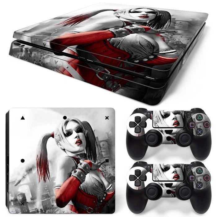 Neue Ankunft Harley Quinn Silber Design Hohe Qualität Wasserdichte Haut Aufkleber für PS4 Slim