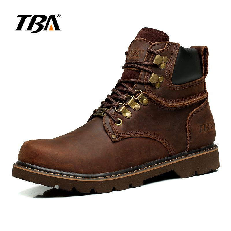 2017 TBA Men's breathable outdoor shoes Martin shoes High Bang Leather shoes Street lighting rubber Hiking shoes TBA5703