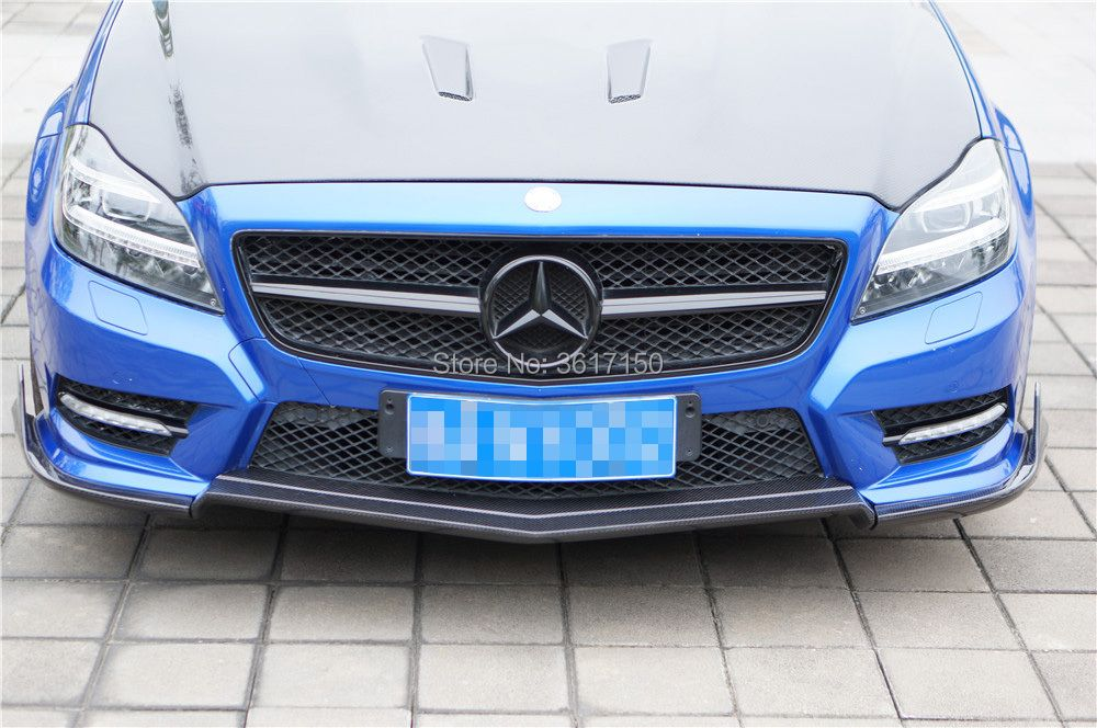 W218 Carbon Fiber Front Lip Spoiler For CLS Class CLS350 Of The RT Style (Fit Non AMG Or Sport Bumper)