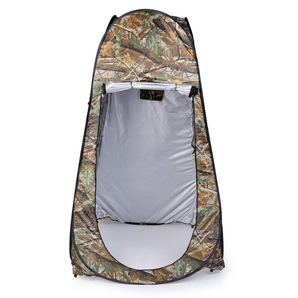 Outdoor Pop Up Camouflage Zelt 180T Camping Dusche Bad Privatsphäre Wc Umkleideraum Shelter Einzigen Moving Folding Zelte