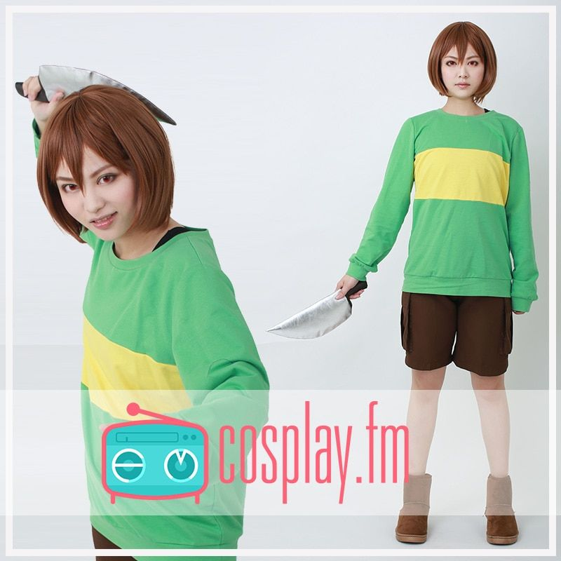 Undertale Protagonis Chara Cosplay Costume (knife included)