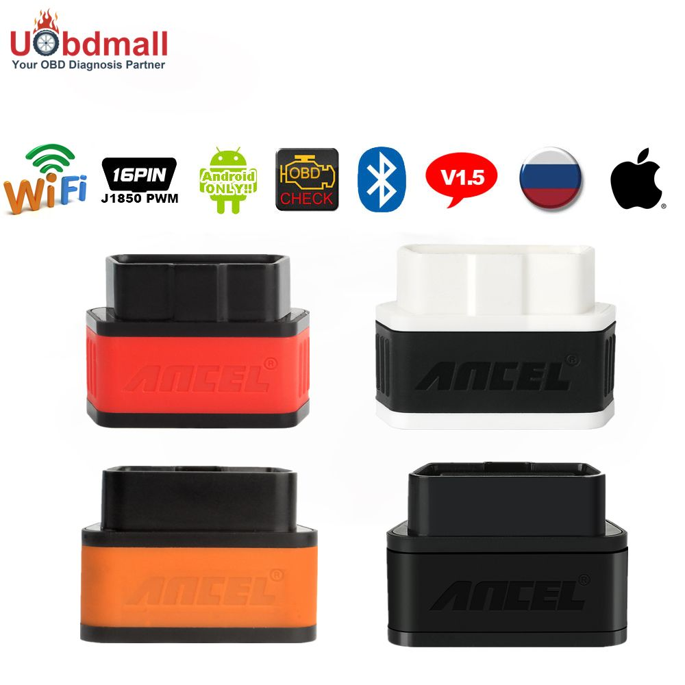 High Quality 25K80 Chip ELM327 iCar V1.5 Wifi Bluetooth OBD 2 Auto Diagnostic Tool for Android/IOS/PC ELM 327 Automotive Scanner