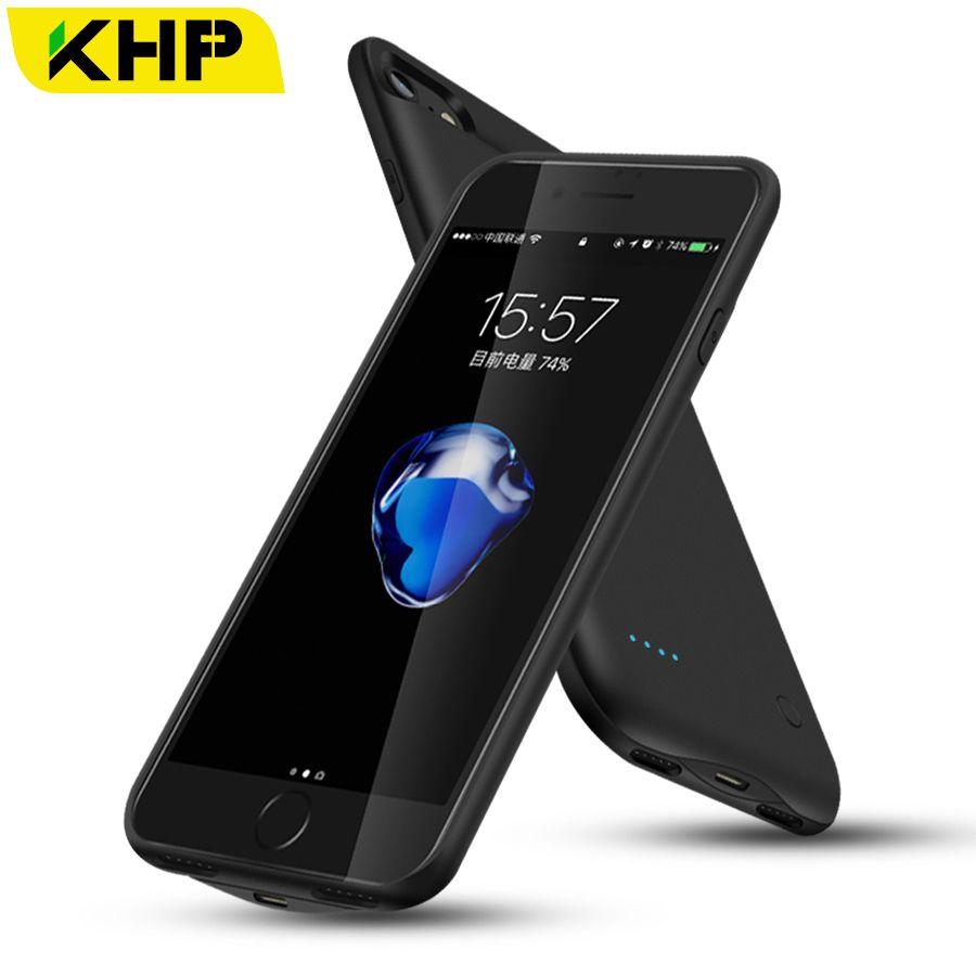 2018 KHP Slim Battery Charger Case For iPhone 7 Plus 6 6s 8 Plus Case 2500/3200mAh Power Bank Case External Battery PowerBank