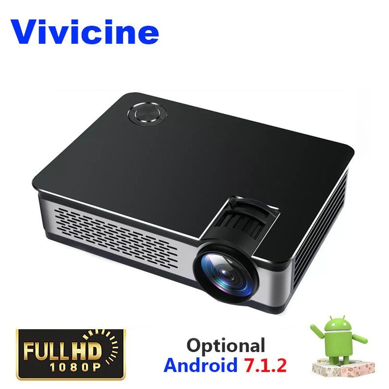 Vivicine Full HD Projektor 1080 p, optional 1920x1080 3800 Lumen Android Tragbare HDMI USB PC Heimkino Projektoren Beamer
