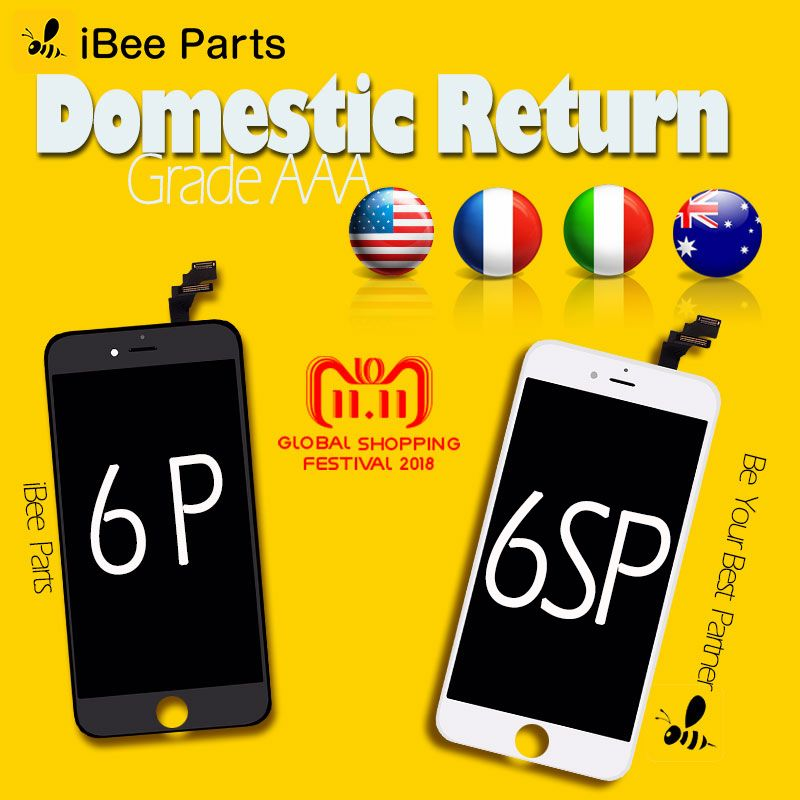 iBee Parts 10PCS Grade AAA Top Quality For iPhone 6 Plus 6S Plus LCD Display 3D Touch Screen Digitizer Assembly Replacement