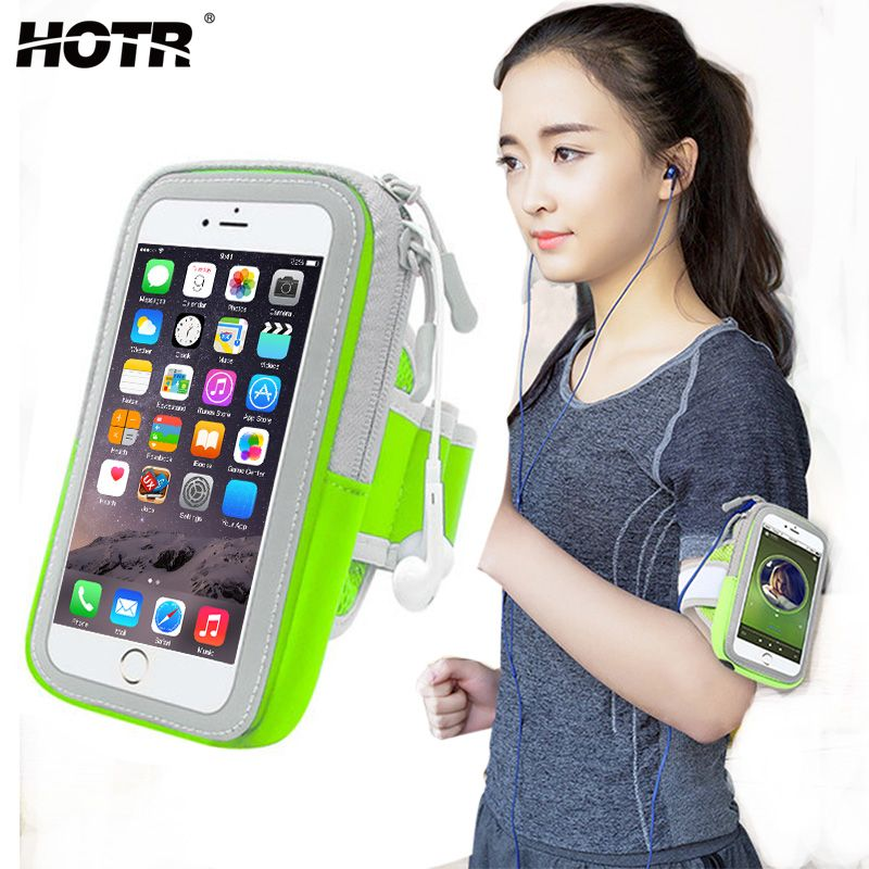 4.9/5.8inch Sport Armband Pouch Bag Case Outdoor Running Full Protect Cover for Iphone 8 7 6 plus 5 for Samsung S8 S7 edge s6/5