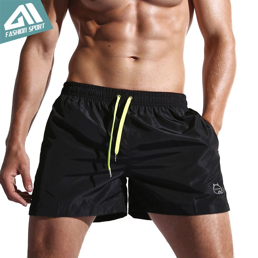 New Quick Dry Mens Swim Shorts Summer Board Shorts Surf Swimwear Beach Shorts Male Athletic <font><b>Running</b></font> Gym Shorts for Man SD001