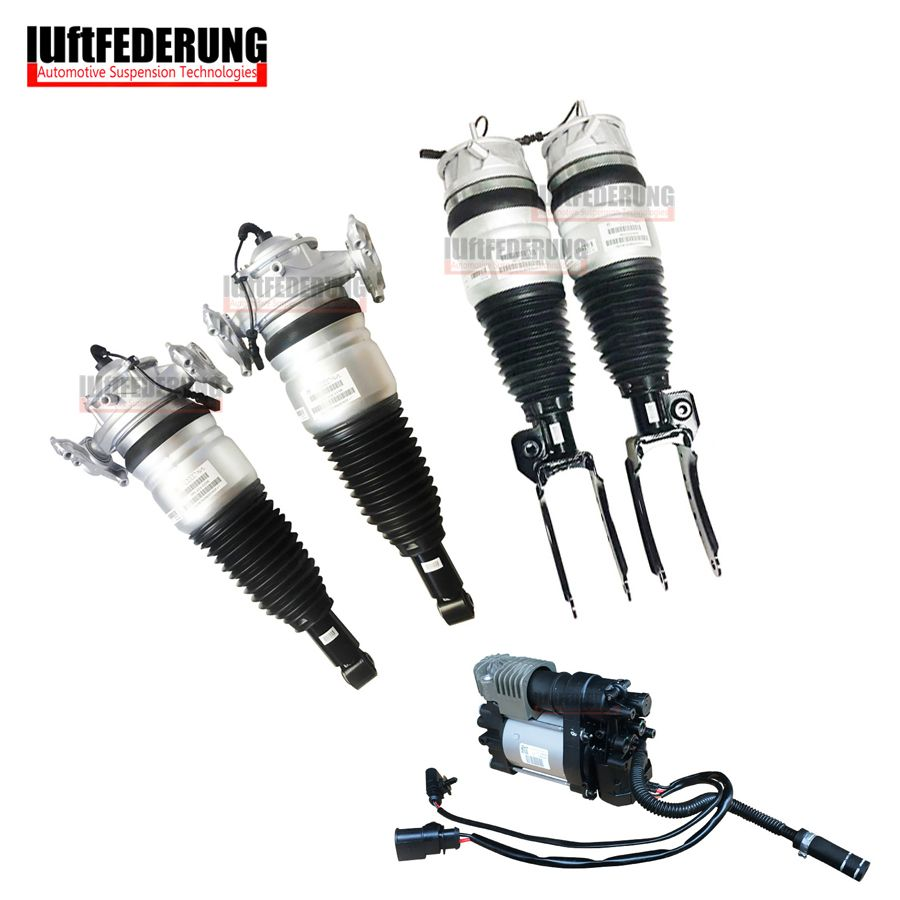 Luftfederung 5pcs 2011-2013 Q7 VW Touareg Cayenne Air Compressor Front Air Spring Rear Air Ride 7P6616040N(39N) 7L5616019K(20K)