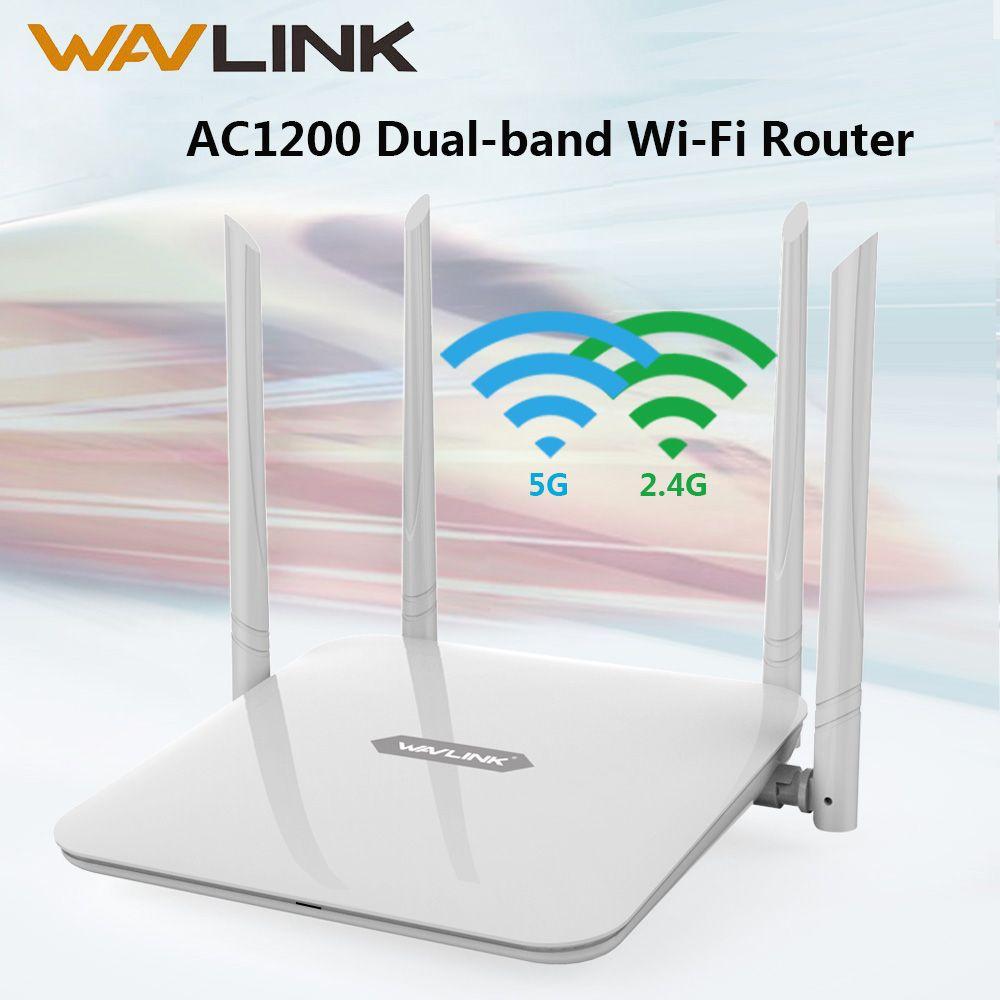 Routeur Wifi Wavlink AC1200 Point d'accès sans fil 5Ghz + 2.4GHz routeur intelligent double bande extension longue portée avec antenne 4x5dBi WPS