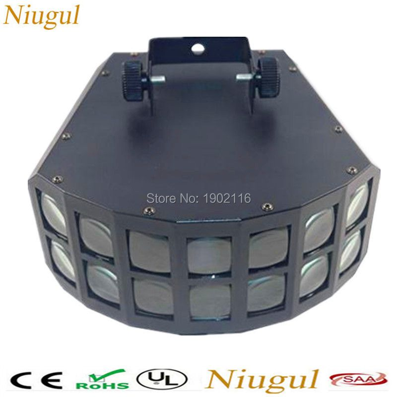 Niugul LED Disco Double Butterfly Light For DJ Club Party/LED Effect Light/DMX512 LED Stage Lamp/DJ Equipments /KTV Disco Lights