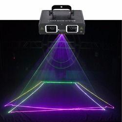AUCD 2 عدسة الأحمر الأخضر الأزرق RGB شعاع ضوء الليزر DMX 512 المهنية DJ حزب مشاهدة نادي عطلة المنزل مصابيح منصة البار 506RGB
