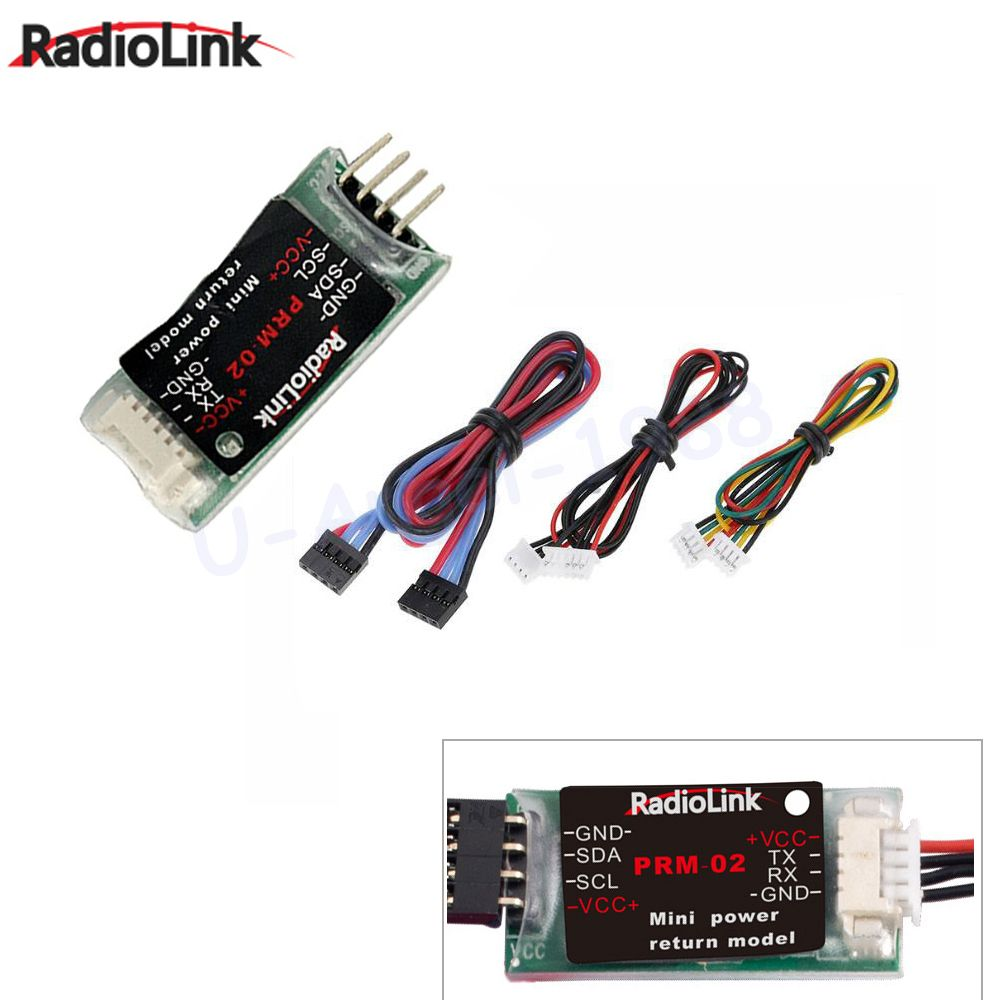 1pcs RadioLink OSD Telemetry Module PRM-02 Mini Power Return Model (Data Return Module) for AT9 & AT10 Transmitter
