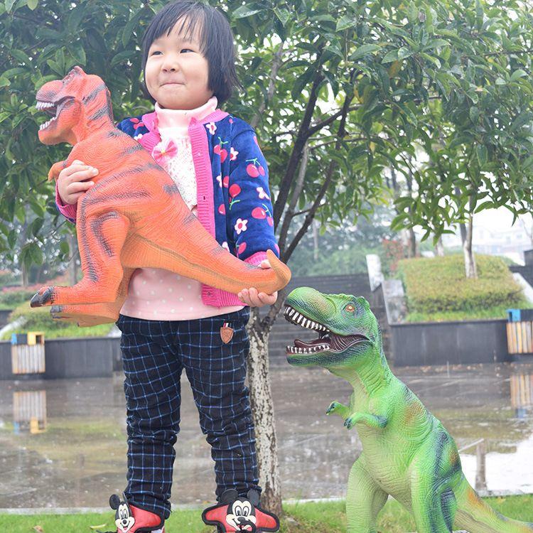 Big Size 65cm Dinosaur Toy Action Figures Tyrannosaurus Rex Soft Animal Model Boy Toy for Children Birthday Gift