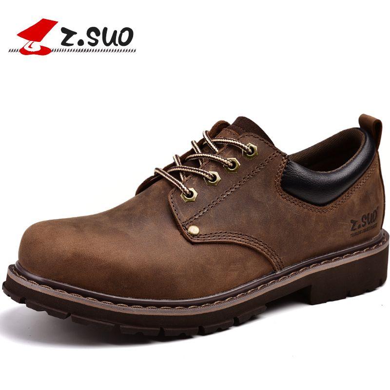 Z. suo мужская обувь, кожаные ботинки, сезон весна-лето человек чистый Ретро кожа Mad корова обувь. ZS18507