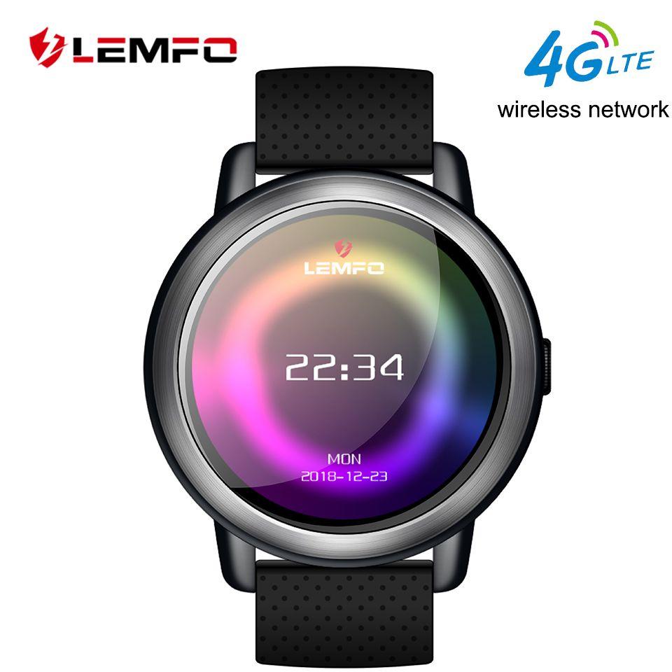 LEMFO LEM8 Smart Watch Android 7.1 LTE 4G Sim WIFI 1.39 Inch 2MP Camera GPS Heart Rate IP67 Waterproof Smartwatch for Men Women