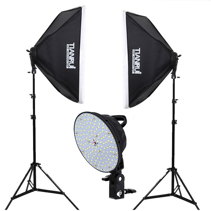 5500K Dimmer Switch 144pcs LED 0-28W Photo Studio Continuous Lighting Light Stand Professional Photography 2meter Light Stand