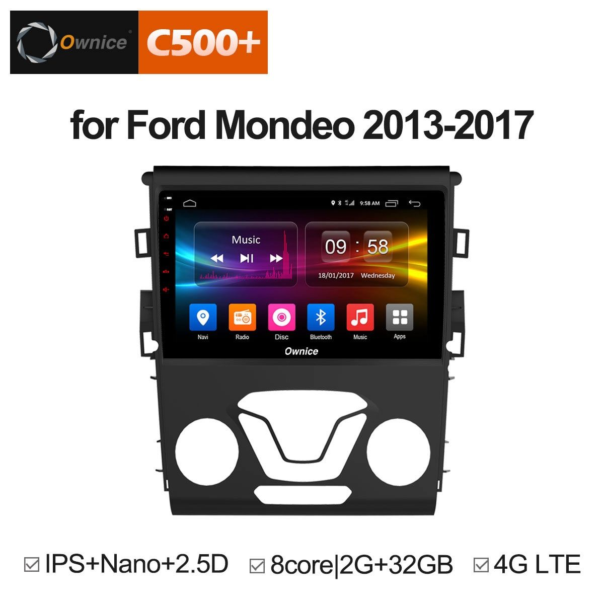 Ownice C500+ G10 Octa core Android 6.0 2GB + 32G CAR GPS DVD player FOR FORD MONDEO 2013 - 2017 car audio stereo Multimedia GPS