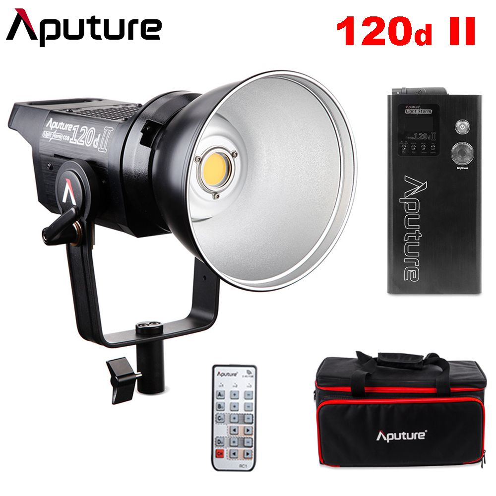Aputure COB 120D Mark 2 120D II Ultimate Upgrade 30,000 Lux @0.5m Supports DMX 5 CRI96+ TLCI97+ Pre-Programmed Lighting Effects