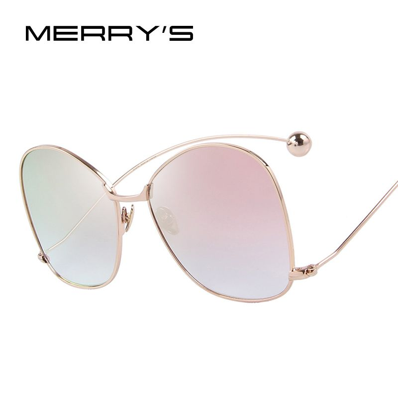 MERRY'S Women Personality Exaggerated Sunglasses Clear Lens Women Glasses UV400 Protection S'8066