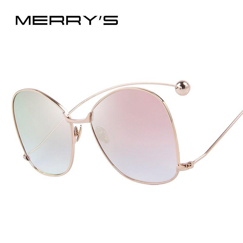Merry's Для женщин личности преувеличены Солнцезащитные очки для женщин прозрачные линзы Для женщин Очки UV400 защиты s'8066