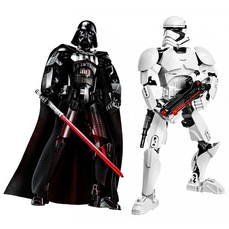 Star Wars Buildable Figure Building Block Stormtrooper Darth Vader Kylo Ren Chewbacca Boba Jango Fett Action Figure Toy For Kids