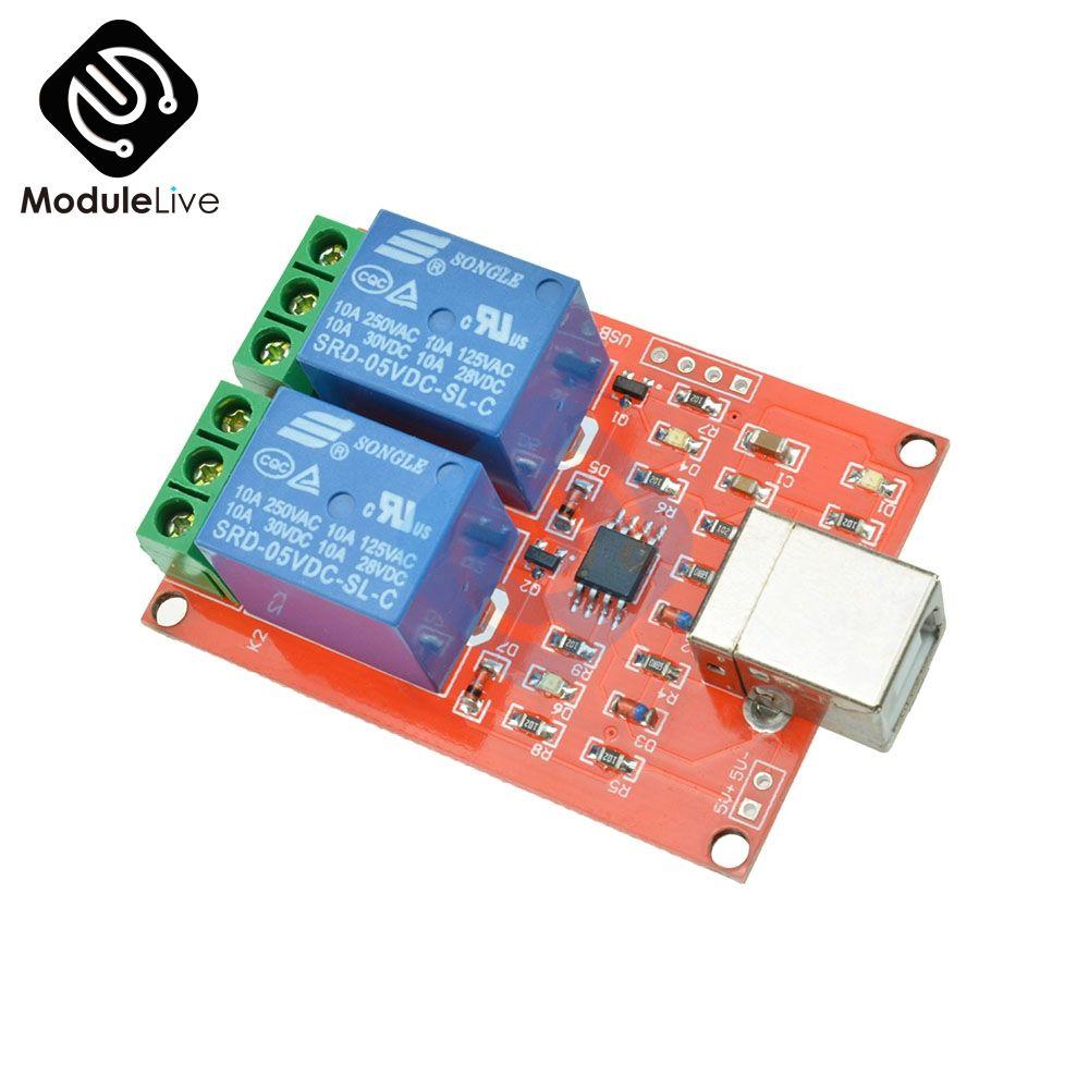 Zwei Kanal 5 v Relais Modul USB Control Schalter/2 Weg 5 v Relais Modul/Computer Control Schalter /PC Intelligente Steuerung