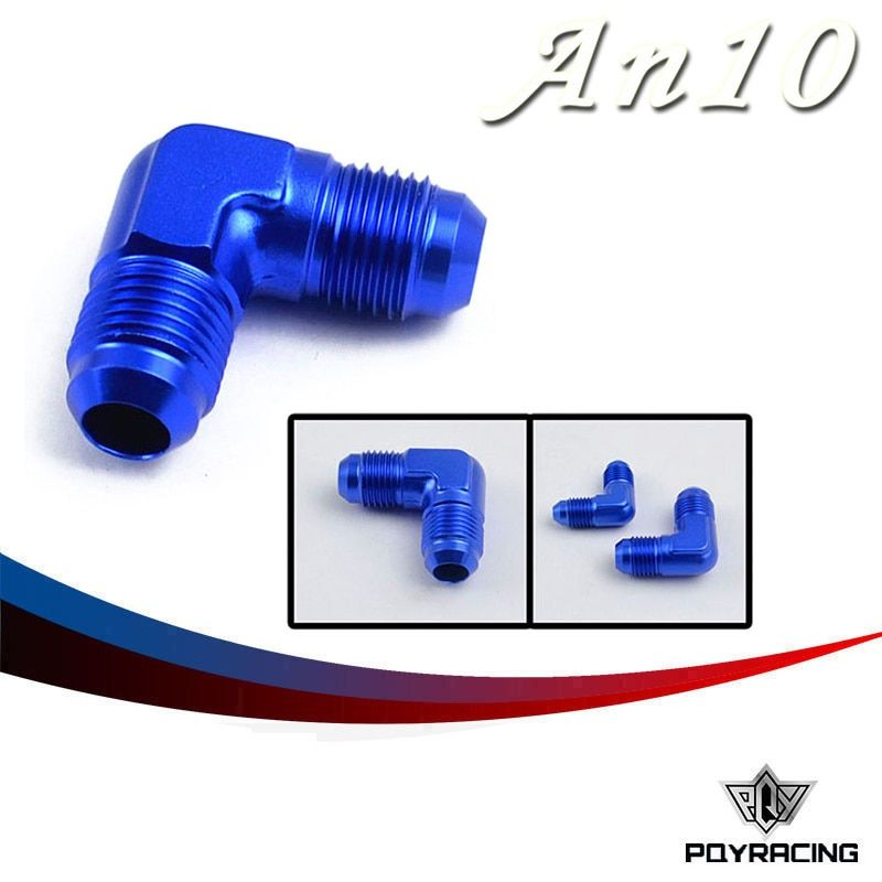 PQY RACING- Flare Union 90 Degree AN10-10AN ALL  Male Adaptor/Fitting PQY-SL821-10-011