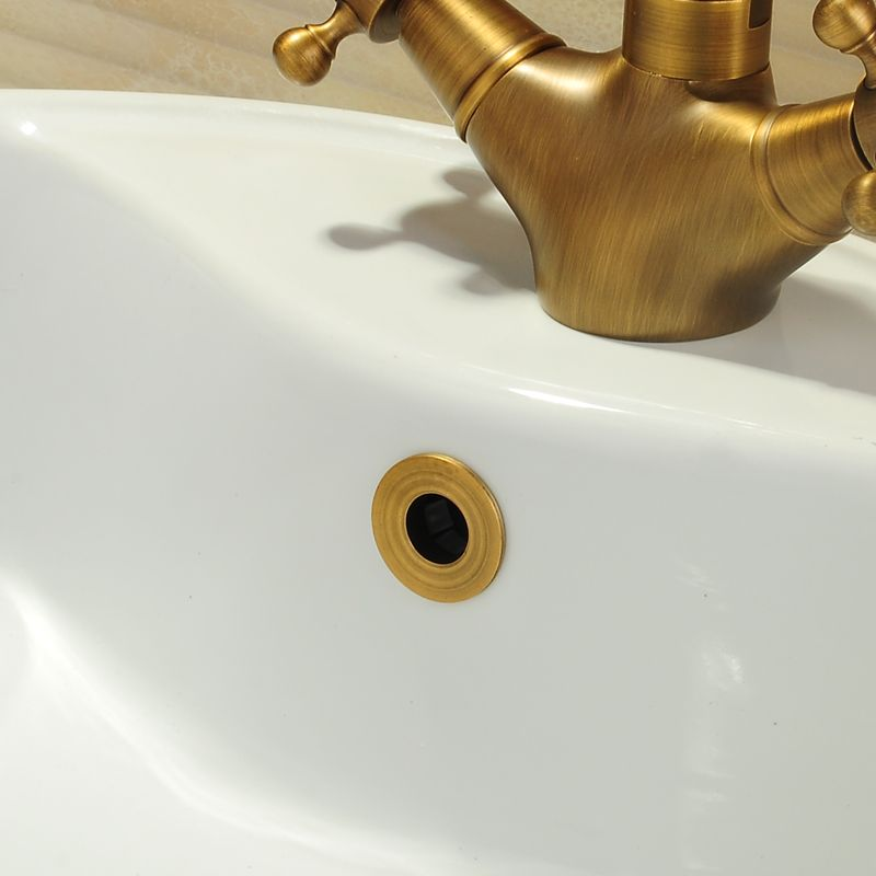 Bathroom Parts Basin faucet Sink Overflow Cover Brass Six-foot ring Bathroom Product Basin Tidy Insert Replacement WF-0567