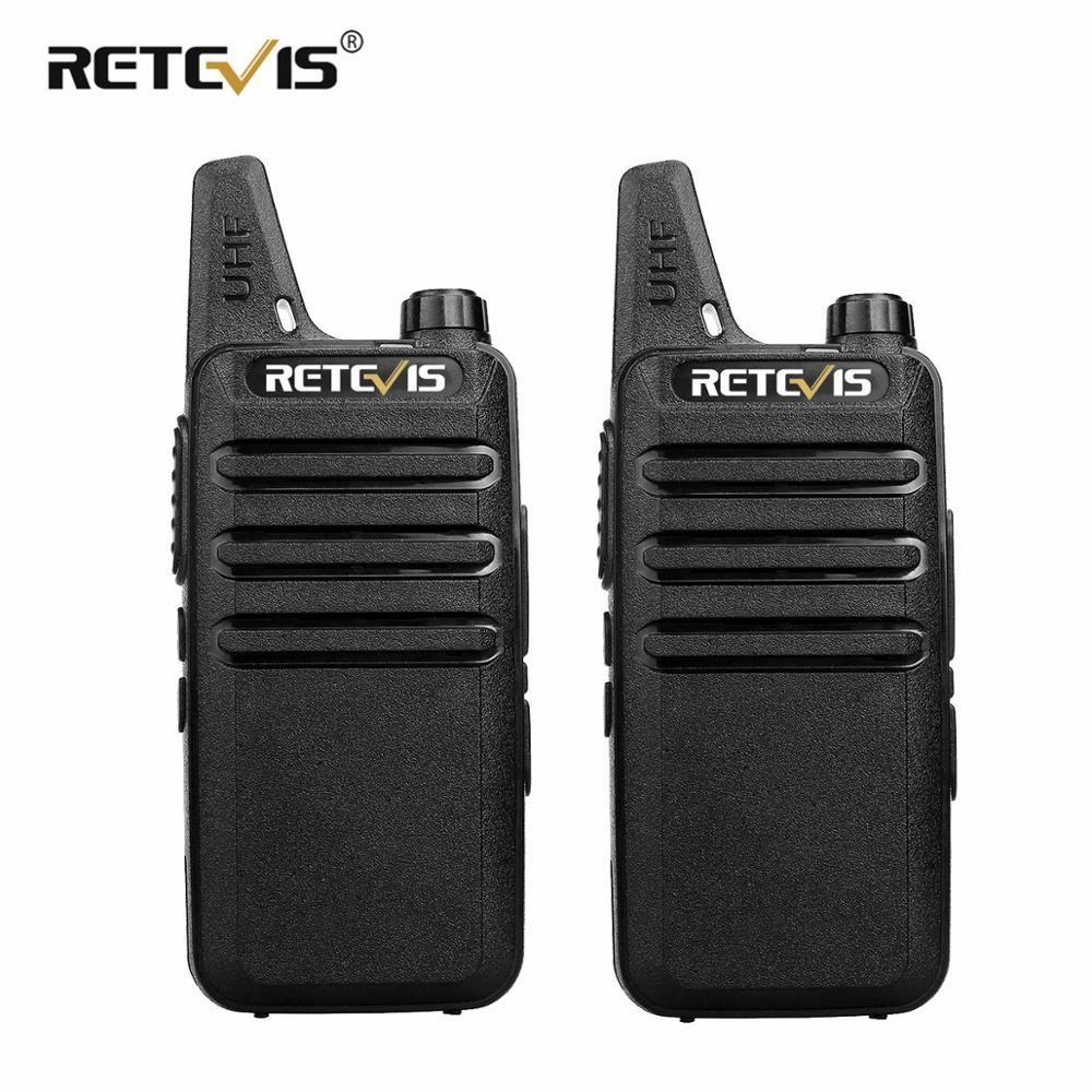 2 pièces RETEVIS RT622 RT22 Talkie-walkie Professionnel Mini PMR446 PMR Radio FRS VOX Radio Bidirectionnelle Comunicador Émetteur-Récepteur Woki Toki