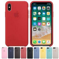 D'origine 1:1 Copie officielle Étui En Silicone Pour iPhone X 7 6 6 s 8 Plus Cas Couverture Pour iPhone 7 plus 8 plus 5 5S se Avec Logo BOÎTE