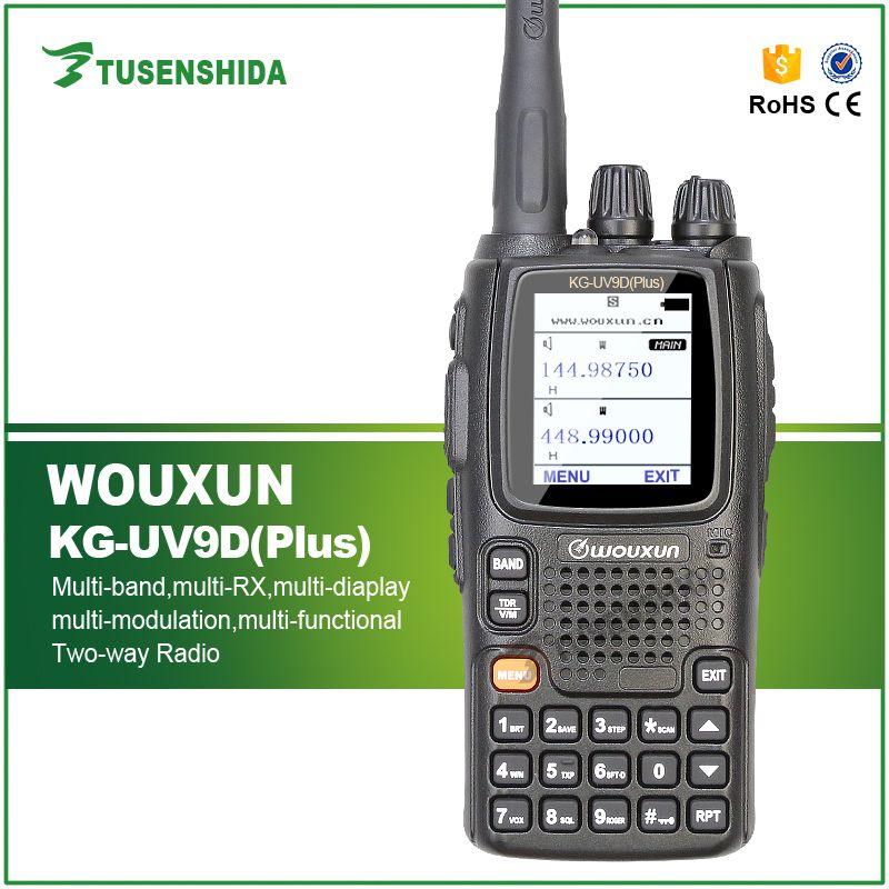 Wouxun KG-UV9D PLUS Dual Band Übertragung Walkie Talkie Wouxun KG-UV9D PLUS Für Sicherheitsabfrage UV Dual-band-funkgeräte