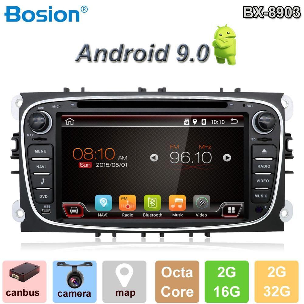 Bosion Auto Multimedia Player Android 9.0 GPS 2Din Auto DVD Player Für Ford/Focus/S-MAX/Mondeo/C-MAX /Galaxy auto radio mit Wifi BT