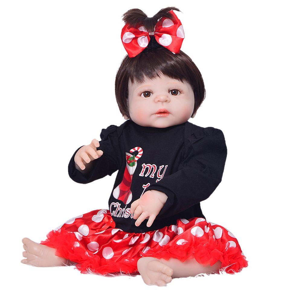 Newborn Dolls Arrival Reborn de Silicona Vinyl Full Body Dolls 23'' Realistic Babies Toys For Girl XMAS Gifts Bebe Reborn
