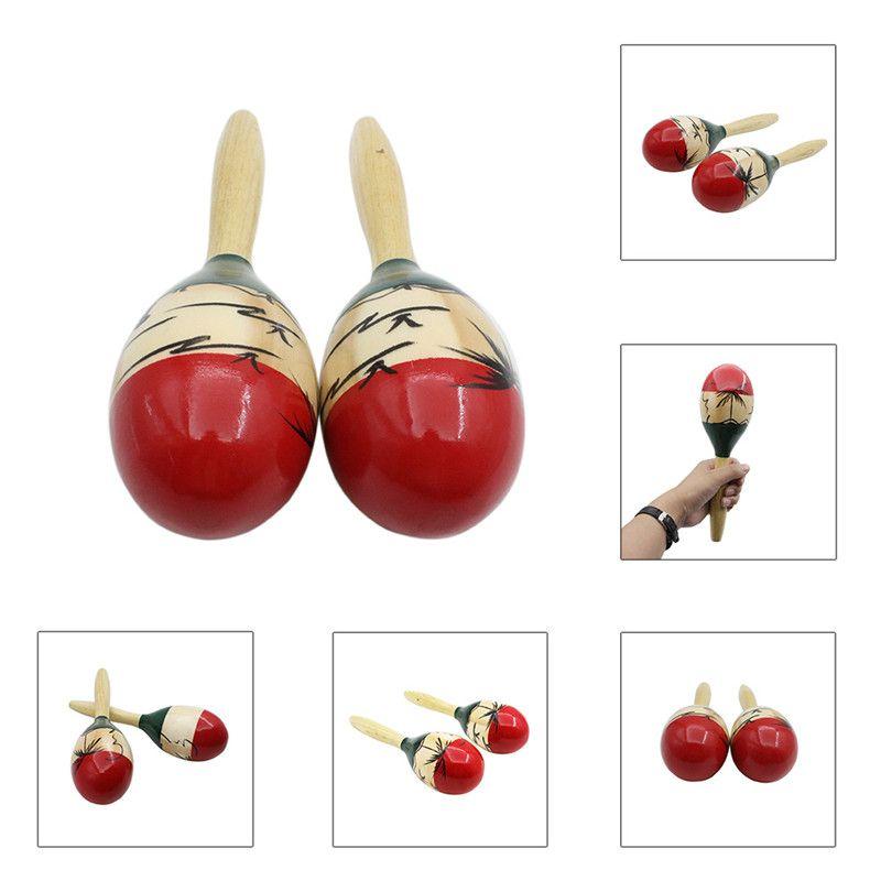 Высокое качество Гавайский стиль деревянный шар детские игрушки Ударные музыкальные инструменты песочный молоток maraca orff инструменты
