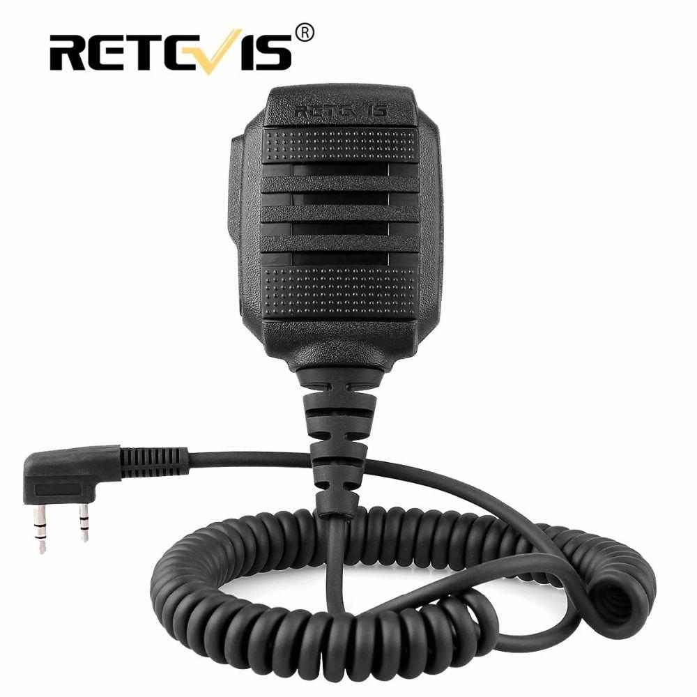 Retevis RS-114 IP54 Waterproof Speaker Microphone For Retevis H777 RT-5R RT22 RT81 RT24 Baofeng UV-5R UV-82 888s Walkie Talkie
