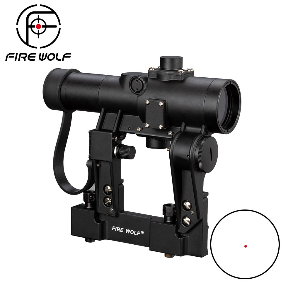 FEUER WOLF SVD 1x24 Red Dot Scope Für Jagd Recoil Beständig Zielfernrohr Jacht Scopes Airsoft Reflexvisier