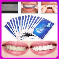 28 PCS/14 Pasangan Gigi Whitening Strip 3D Putih Gel Gigi Dental Kit Kebersihan Mulut Perawatan Strip Palsu gigi Veneers Dokter Gigi Seks