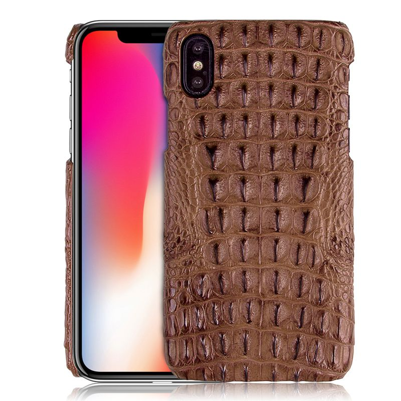 Super Luxury Genuine Crocodile Skin Leather Case For iPhone X Natural Crocodile Back Skin Cover For iPhone X Durable Phone Cases