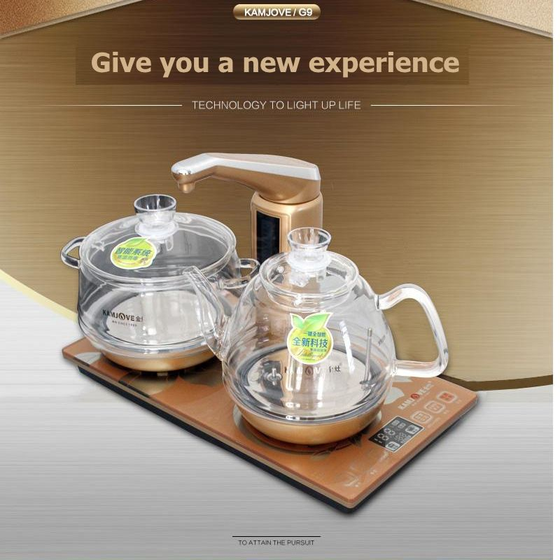 Free shipping KAMJOVE Intelligent electric heating stove glass electric kettle boil tea health smart crystal electric tea stove