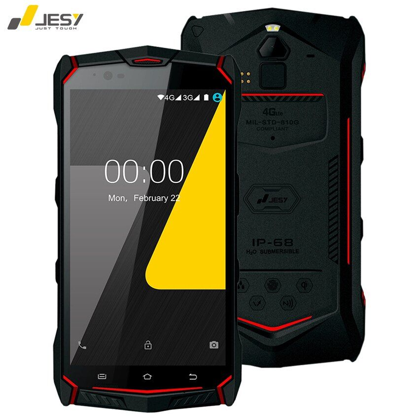 JESY J9S IP68 Waterproof Mobile Phone 4G RAM 64GB 6150mAh Battery 16MP Octa Core NFC Wireless Fingerprint 5.5