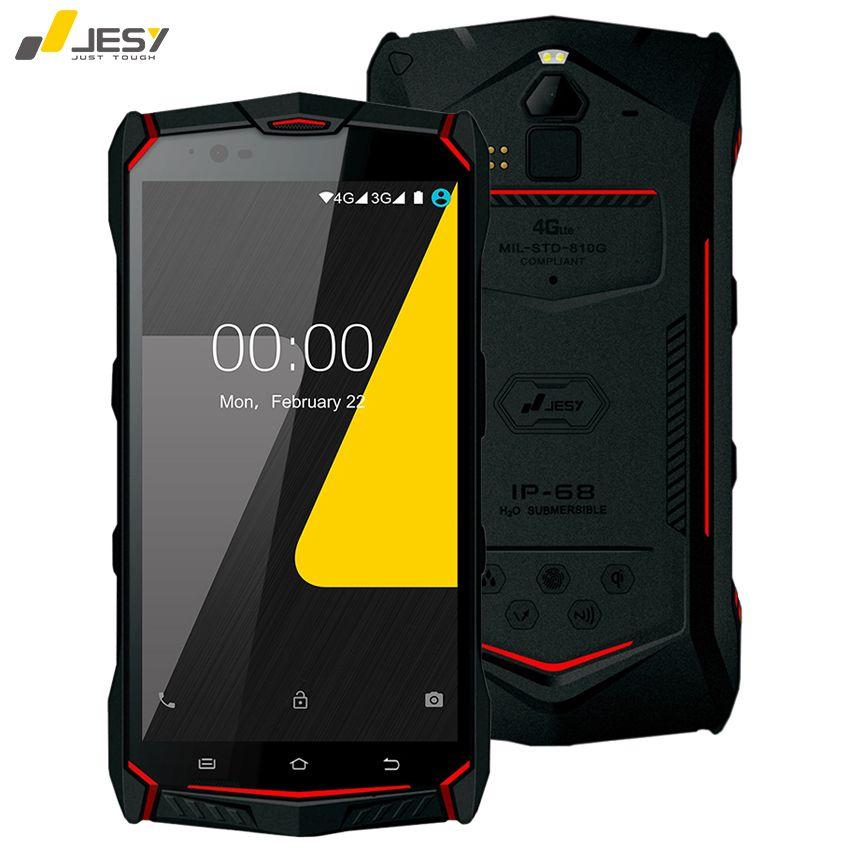 JESY J9S IP68 Waterproof Mobile Phone 4G RAM 64GB 6150mAh Battery 16MP Octa Core NFC Wireless Fingerprint 5.5