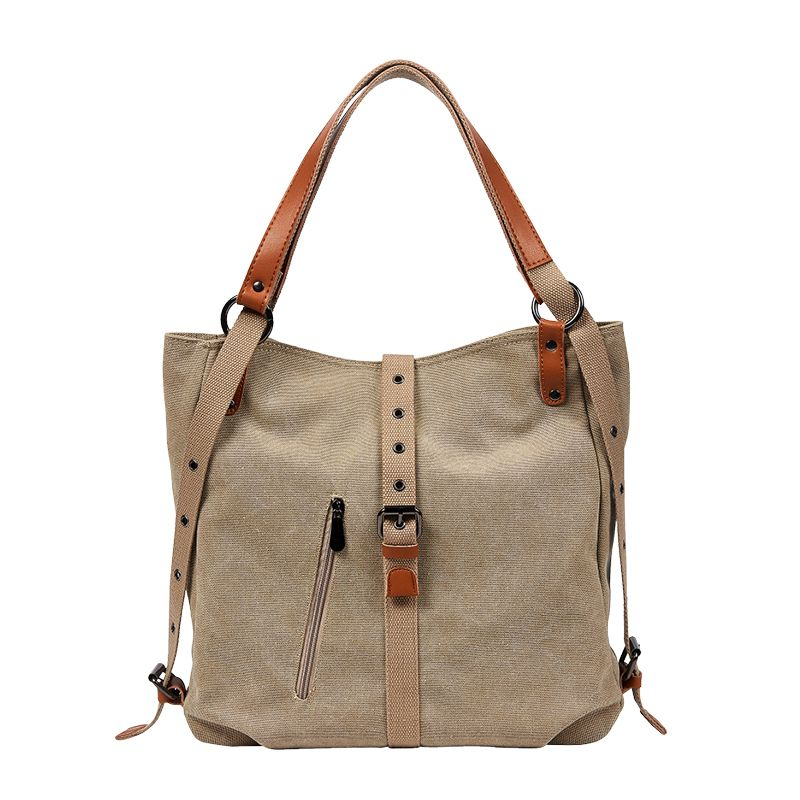 Women Capacity Totes Female Hobos Single Shoulder Bags Solid Vintage Multi-function Shoulder Bag Double Conversion