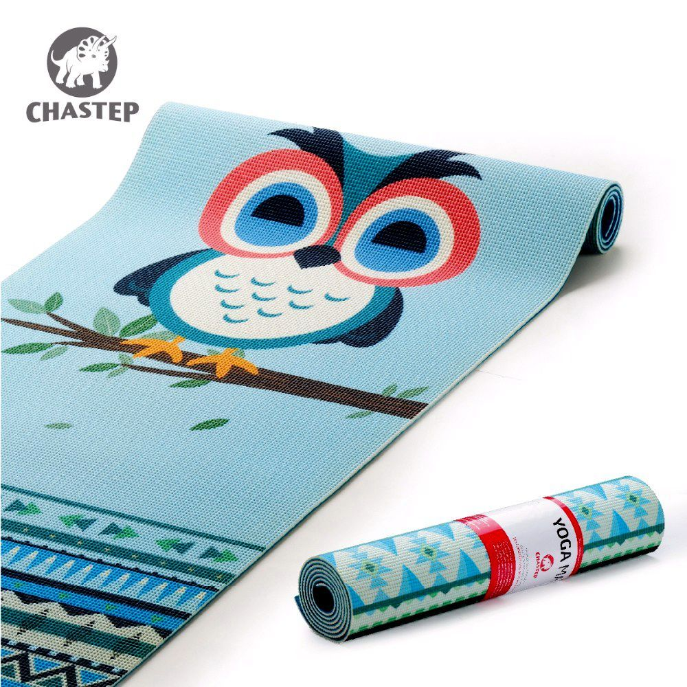 Chastep Professional Yoga Training Foldable Fitness Yoga Mats Exercise Pad 6 mm Eco Friendly Natural PVC Yoga Mats with Yoga Bag