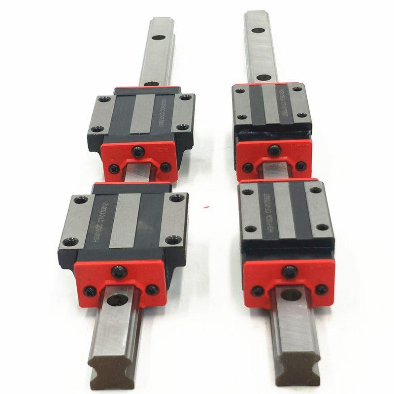 2 pcs of each LINEAR RAIL HB15-340/605/1000mm sets+8 pcs square block HBH15CA+4 pcs flange block HBW15CC