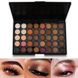 40 Warna Eyeshadow Pallet Matte Membuat Bumi Palet Glitter Tahan Air Tahan Lama Longgar Telanjang Bubuk Eye Shadow Makeup Berpigmen