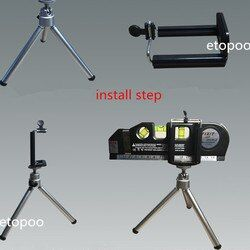 Laser Level Vertical Measure Line Tape Adjusted Multifunction Standard Ruler Horizontal Lasers Cross Lines Instrument + Tripod